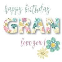 Pink Pig - card- Gran Birthday